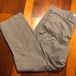 Khakis by gap cropped grey khakis size 12